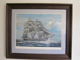 3 Framed Limited Edition, nautical prints by Richard Linton.