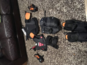 Child's hockey gear