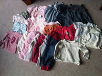 Lot of 20 baby/toddler 6-18m clothing items +1 brand-new sweater