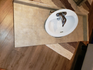 Bathroom Laminate Counter Sink and Tap