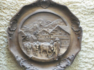Swiss Carved Plaque