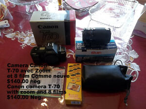 Camera T70, with zoom and Films at 1189 Pallot road in Inkerman(
