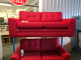 Brand New DFS 3 Seater Fabric Sofa In Red RRP £599