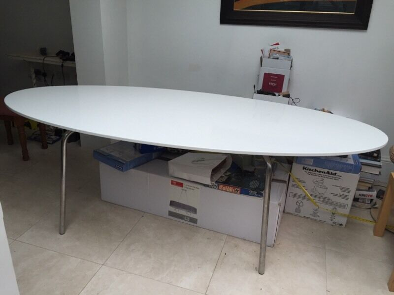 oval gloss ikea gidea dining table in richmond london
