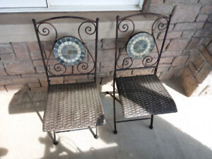 Pair of cast iron foldable patio chairs (Heavy & sturdy) - $100