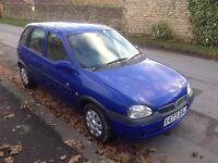 2000 (x) Vauxhall corsa 1.2 16v, blue, 5 months mot, 49,000 miles £375 no offers