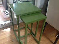 Green Nesting Side Tables