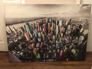Large canvas print of NYC
