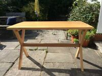ASPACE beech trestle table or desk with chair