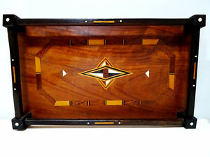 late 19thC WOOD GALLERY TRAY star inlay bone MOORISH Persian Oakville / Halton Region Toronto (GTA) image 1