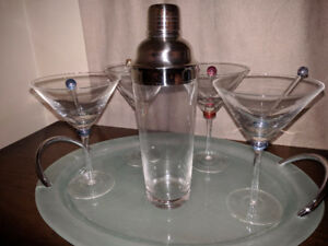 Mantles Cocktail Bar set - New in Box....from the 80s