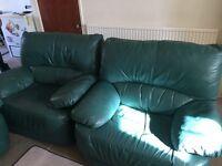3 leather sofas