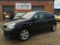 2005(55) Renault Clio 1.4 16v ( a/c ) Dynamique, Black, 3dr Hatch, **ANY PX **