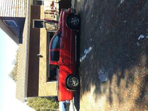 2002 Dodge Power Ram 1500 Red Pickup Truck
