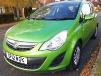 Vauxhall Corsa 1.0i eco FLEX 2012 + NEW SHAPE + RARE GRASS HOPPER GREEN COLOUR