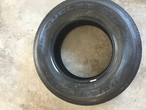 4 p255 70 r 17 Bridgestone all season mud/snow tires