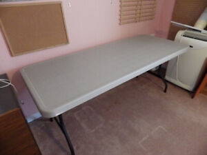 """Two Work Tables with Folding Legs (""""NEW PRICE"""")"""