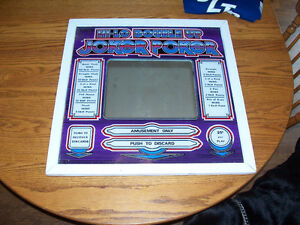 Framed back glass from vintage Poker machine 24in by 24 in