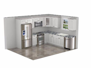 10x10 Solid Wood Kitchen for Under $2800