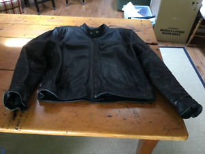 Genuine Black Leather Motorcycle Jacket