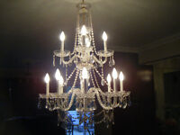 lustre crystale de style maria theresa 12 lumieres