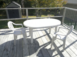 PATIO TABLE AND 2 CHAIRS
