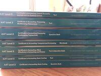 Full set AAT Level 2 Accounting Textbooks NEW