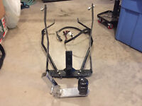 HD touring trailer hitch and wiring harness