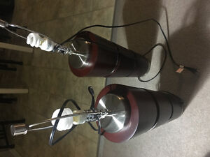 nerval lampshade pair - used/working