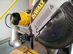 "Dewalt 12"" Double Bevel Sliding Miter Mitre saw used DW708"