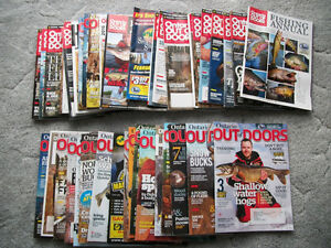 ONTARIO OUT OF DOORS MAGAZINES  --  40 ISSUES