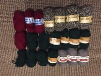 Knitting Wool, job lot 100+ balls