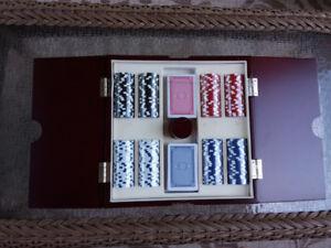 Poker Set In Wooden Case