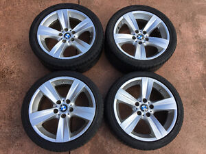 """OEM BMW 18"""" Style 189 Wheels w/ tires and TPMS sensors"""