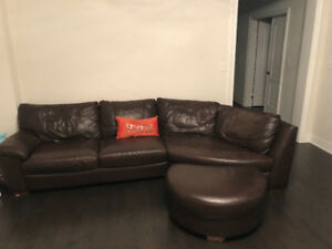 Real Leather Italian sofas in good condition
