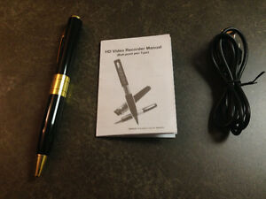 New Pen with built-in spy video camera.