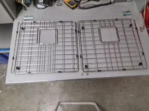 Stainless sink grates