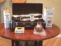 Yamaha YTR 4335 silver brass trumpet