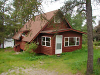 Chalet Style Waterfront Cottage on French River Alban, Ont