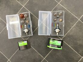 Land Rover And Rover 45 Two sets of Spare Car Bulb Kits. Numbers 2 and number 3. Never been used.