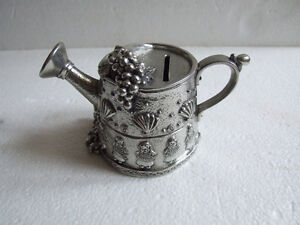 Collectible Royal Selangor pewter money box watering can