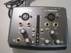 M-Audio M-Track two channel USB audio- MIDI  interface