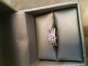REDUCED! 14k White Gold, 1ct Diamond Engagement/Wedding rings