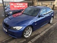 2007 BMW 318D MSPORT, 1 YEAR MOT, SERVICE HISTORY, WARRANTY, NOT C CLASS S40 C30 A3 GOLF ASTRA