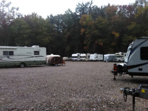 Outside storage for trailers