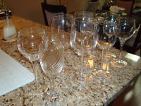 Assorted Red & White Wine Glasses