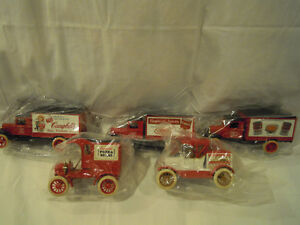Set of (5) Campbell's Soup Truck Banks
