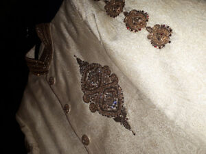 Medium Slim Fit Sherwani (Never Used) - Negotiable