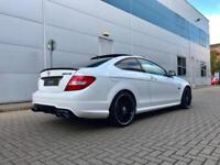 2013 13 reg Mercedes-Benz C63 6.3 AMG Coupe + WHITE + HUGE SPEC