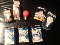 Set of old school light bulbs not led not low energy rare find.